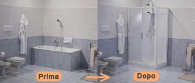 Trasformazione vasca da bagno in cabina doccia - Climablu